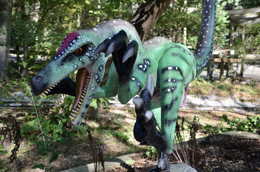 Zoorassic Park Binder Park Zoo Green Velociraptor